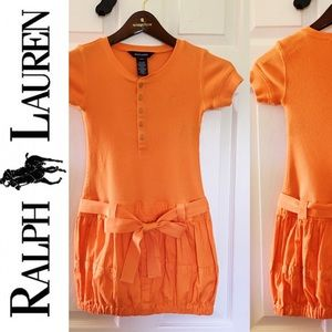 👗Ralph Lauren 👗Girls Orange Dress